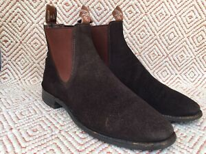 RM Williams Suede Turnout Chelsea Chocolate Boot Size UK 8.5 F || US 9.5