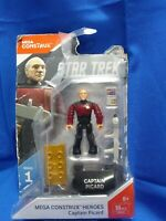 Star Trek Captain Picard Mini Figure Mega Construx Heroes Age 8+