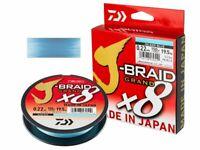 Daiwa J-Braid X8 135m Braided Fishing Line - Island Blue Made In Japan