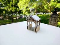 Lych Gate Model Laser Cut Scratch Aid  Layout Kit OO Gauge 4mm Model Railway