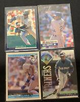 Ken Griffey Jr 4 card lot, Leaf, Score, Jimmy Dean, Donruss Seattle Mariners