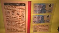 Harold M Peake the 1988 $10 COMMEMORATIVE PLASTIC NOTE PAIRS folder rare