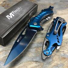 MTech USA Blue Blade Hunting Camping Tactical Rescue Pocket Knife MT-A705SBL