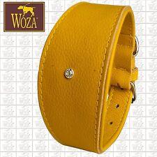 WOZA Premium Greyhound Collar Handmade Full Leather Padded Genuine Cow Napa 9814