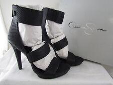 NIB Black Jessica Simpson Fransi Snake Skin Strappy Dress Sandals 9.5 MSRP $109