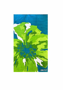 DKNY Green Extra Large Beach Towel 180 x 100cm