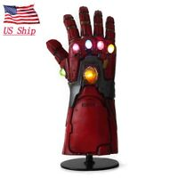 US Avengers Endgame Led Infinity Gauntlet Cosplay Iron Man Tony Stark Gloves