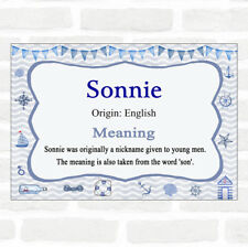 Sonnie Name Meaning Nautical Certificate