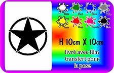 sticker étoile armée army réservoir (5 pièces) choppers bobbers jeep bike
