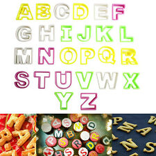 26Pcs Alphabet Letter Icing Cookie Cutter Mould Cake Decorating Mold Sugarcraft