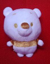 DISNEY WINNIE POOH BEAR GOLDEN WHITE GOLD PLUSH DOLL SOFT TOY