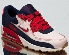 Nike Air Max 90 Premium Home And Away Men's Sail Red Lifestyle Sneakers Shoes