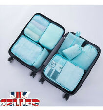 8 Pieces Organiser Set Luggage Suitcase Storage Bags Packing Travel Cubes UK