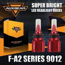 Auxbeam 9012 HIR2 50W 5000LM High Low Beam LED Headlight Bulb Kit 6500K White