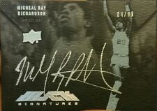 2012-13 UD Exquisite Michael Ray Richardson AUTO BLACK!...RARE historical...