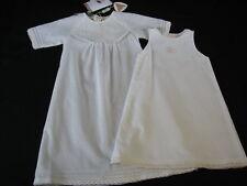 NWT Anne Geddes PURE Gown Petticoat Christening Baptismal Set Newborn Reborn