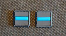 Thin Blue Line 3D PVC Ranger Eye Patch Set Police SWAT VELCRO® Brand Fastener