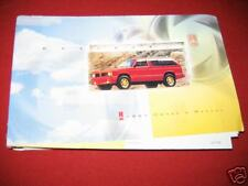 1993 OLDSMOBILE BRAVADA OWNERS MANUAL 93 NEW NOS