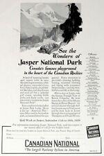1926 Canadian National Railroad Print Ad - Jasper National Park - Apr 1926