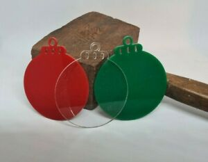 3mm Acrylic blank bauble decorate yourself cricut scanncut cameo