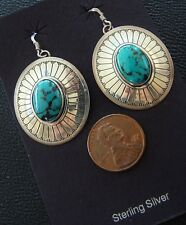 VINTAGE (1980's) Sterling Silver INDIAN design Earrings Jewelry