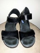 Wolky Anantara Black Leather Ankle Strap Sandals Wmns. 39M US 8