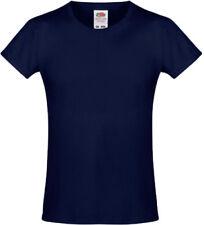 Magliette, maglie e camicie blu Fruit of the Loom per bambine dai 2 ai 16 anni 100% Cotone