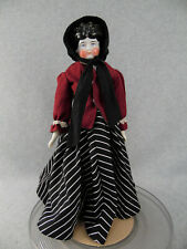 """18"""" antique German china shoulder head doll with cloth body"""