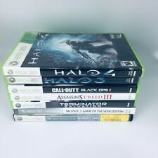 Xbox 360 Games Lot of 7 Halo 4, Call of Duty Black Ops 2 Fallout 3