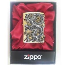 Zippo Flying Dragon Lighter Gold Genuine Case Pocket Windproof Made in USA