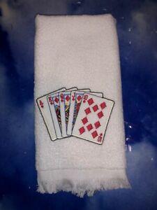 Avanti Royal Flush Cards Fingertip Towel