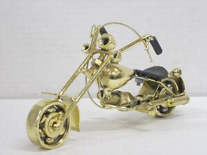 Motorrad / Chopper aus Metall gold, ohne OVP, Hersteller unbekannt, 18 cm lang