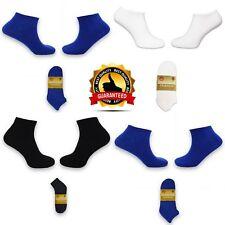 PACK OF 6 Luxury Men Ladies Plain Colored Ankle Socks All Size Designer Cotton
