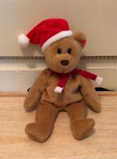 TY Beanie Babies Teddy 1997 Bear Santa Hat