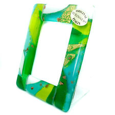 Murano Glass Photo Frame Green Gold and White Venice Unique Item 11cm x 8.5cm