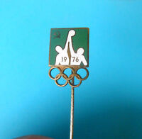 SOVIET UNION NOC - OLYMPIC GAMES MONTREAL 1976. - old rare enamel pin badge