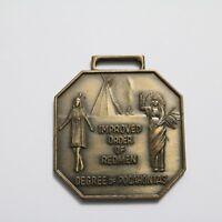 Vintage Improved Order of Redmen Degree of Pocahontas Badge Medal Bastian Bros