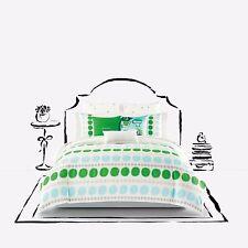 8-Pc Kate Spade Ikat Dot Full-Queen Comforter Set White Green Gray Shabby Chic
