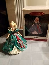 1995 Holiday Barbie Hallmark Ornament Green/Sazzling Gown Mattel #3