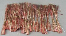Lot of 25 New Tinsel Fishing Lure Skirts - Jigs etc. - 5 inch - Red & Gold Color