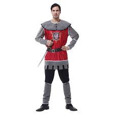 lusso da uomo adulto re artù cavaliere principe medievale costume vestito