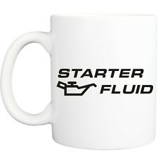 STARTER FLUID MUG funny novelty tea coffee gift womens mens office gifts car mod