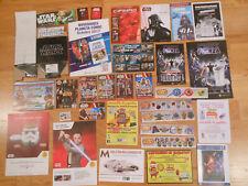 69 ITEMS STAR WARS SPAIN SPANISH PROMOS CARDS FLYERS PUBLICIDAD CARDS SHEET RARE