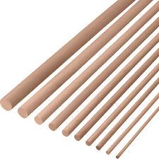 10x Rundstab Buche Bastel Holzdübel Buchenrundstäbe glatt Dübelstange Holzstab