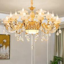 Modern Chandelier Crystal Glass 6-18 head Ceiling Light Fixture Pendant Light