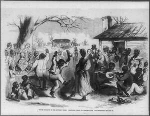 Plantation frolic on Christmas Eve,African Americans dancing amid whites,1 8975