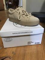 Steve Madden Women's Size 8 Bertie Tan Comfort Athletic Sneakers ZI-1770