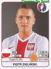 308 PIOTR ZIELINSKI POLSKA POLAND EMPOLI.FC STICKER EURO 2016 PANINI