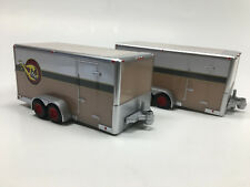 Maisto Loose (2) 1/64 Car Trailer Hauler Tow and Go 87 Chevy w/ Opening Door