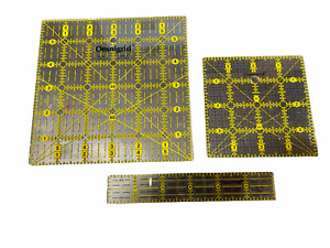 "Vintage Omnigrid Quilter's Sewing Ruler 6"" & 4"" Square & 6"" rule"
